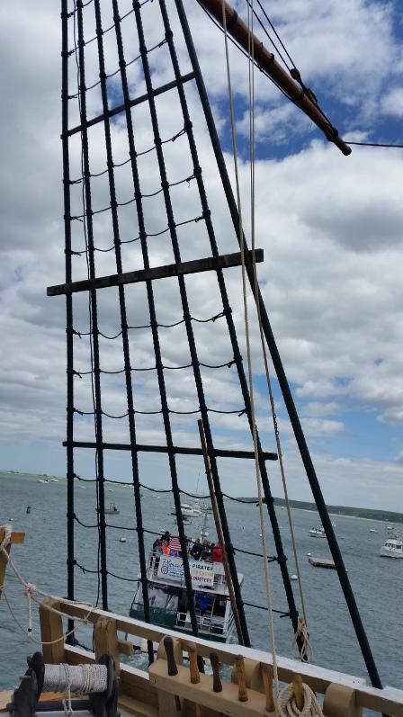 Mayflower-Mast-counter-weight