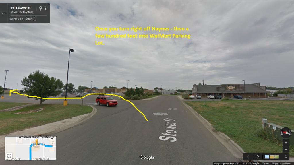 MilesCity-Walmart-ParkingLot