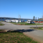 Lake Guntersville State Park view from our site.